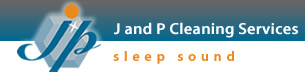 J and P Cleaning Services home page logo